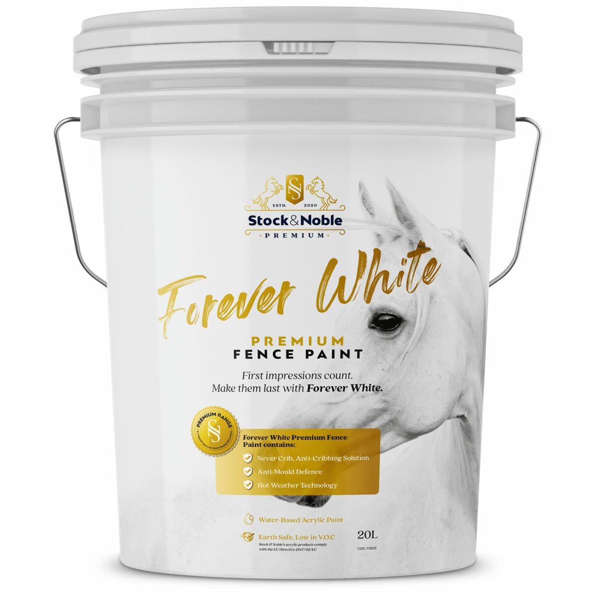 Master Blend Fence Paint Forever White Design - Stock and Noble
