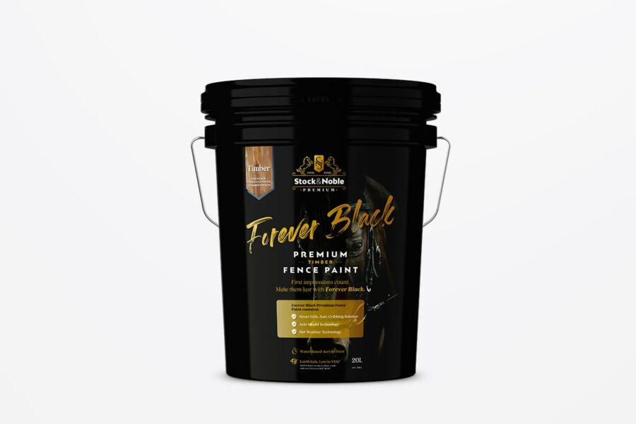 Master Blend Fence Paint Forever Black - Stock and Noble