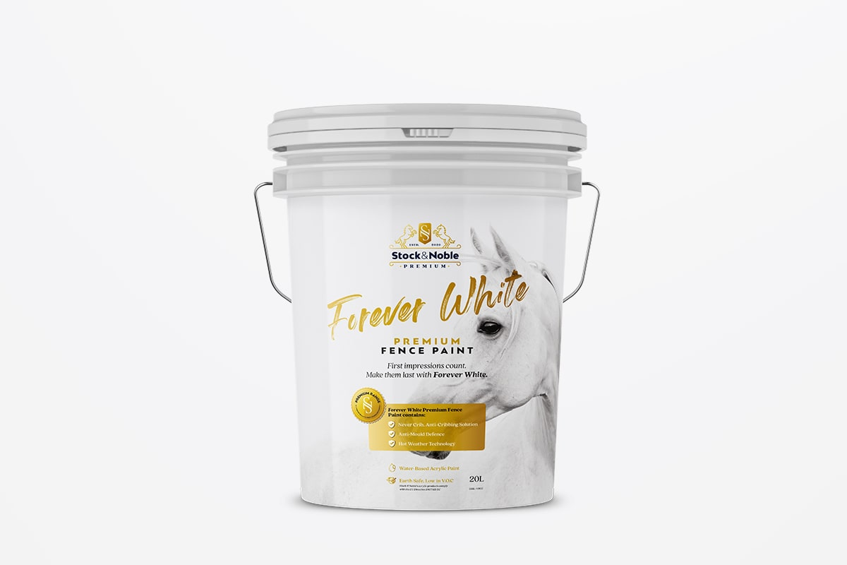 Master Blend Fence Paint Forever White - Stock and Noble
