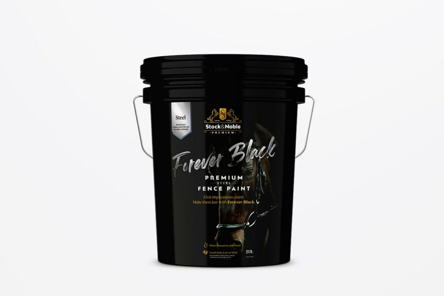Master Blend Fence Paint Classic Black - Stock and Noble