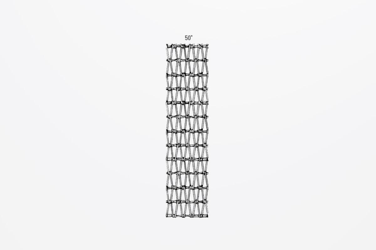 Diamond V-Mesh, Zoomed detail - Stock and Noble