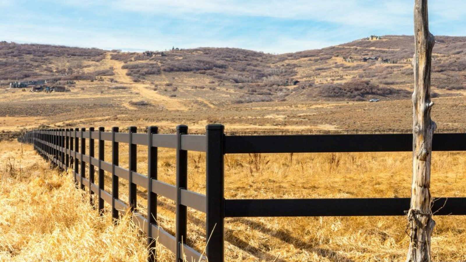 Paddock Fencing in Field - Stock and Noble